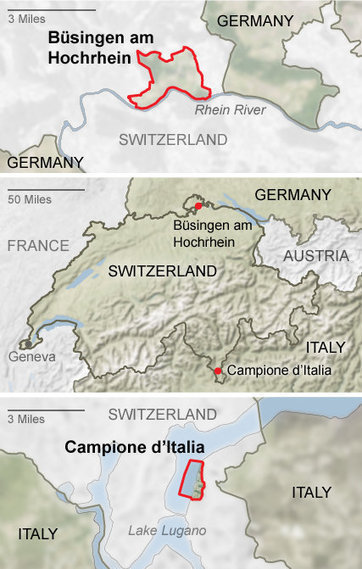 Enclave-Hunting in Switzerland - New York Times (blog) | Cartography | Scoop.it