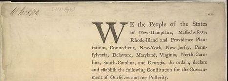 The Preamble to the Constitution: Making Inferences About Intent Using Two Drafts from the Library of Congress | Teaching with the Library of Congress | RI.11-12.8: Evaluating the reasoning in seminal U.S. texts. | Scoop.it