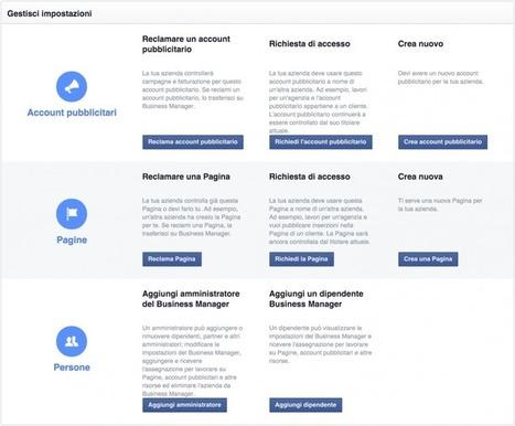 Facebook Business Manager: La Guida Che Mancava | Digital Marketing News & Trends... | Scoop.it