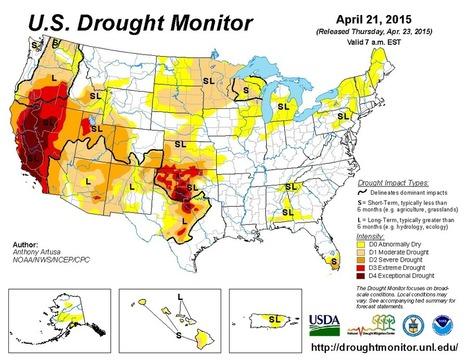 U.S. Drought Monitor for April 21, 2015 | Grain du Coteau : News ( corn maize ethanol DDG soybean soymeal wheat livestock beef pigs canadian dollar) | Scoop.it