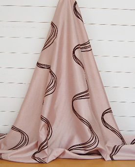 WHOLE ROLL DEAL 22M'S Slubbed shot fabric with brown velvet swirly stripes, for curtains etc. | Welcome to Discount Fabrics Lincs | Scoop.it