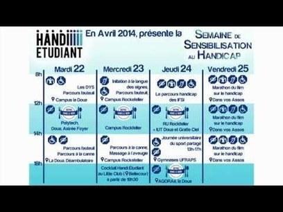 Semaine de Sensibilisation au Handicap 2014 (Handi Etudiant) - YouTube | veille_fage | Scoop.it