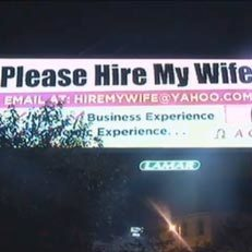 Supportive husband puts up 'Hire My Wife' billboard | It's Show Prep for Radio | Scoop.it