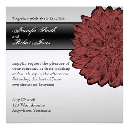 Black Dahlia Posh Wedding Invitation   Flamin Cat Designs At Zazzle   Scoop.it