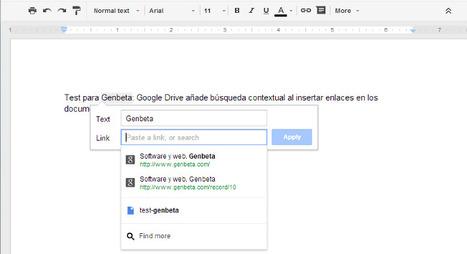 Google Drive añade búsqueda contextual al insertar enlaces en los documentos.- | Servicios de Internet | Scoop.it