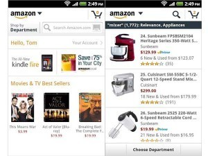 "Amazon Mobile app gets updated with new ""Shop by Department ... 