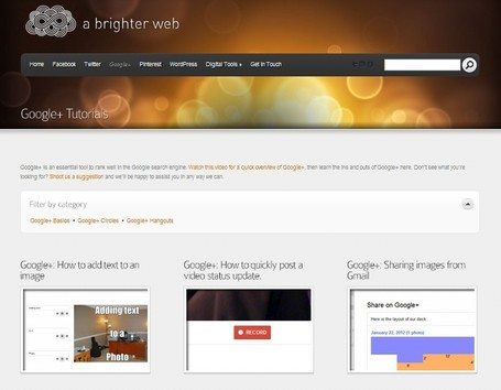 Google+ Tutorials - A Brighter Web | Alt Digital | Scoop.it