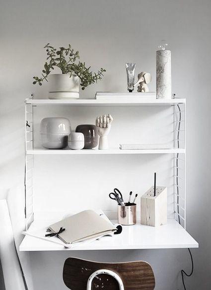 10 bureaux scandinaves en noir et blanc | décoration & déco | Scoop.it