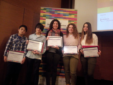 L'Andrea González, l'Alex Parramón, el Jordi Sobrevals i la Noemí Pedrosa de tercer d'ESO reben el Premi E2 Escola d'Emprenedors. | La Salle Mollerussa | Diari del Col·legi  La Salle Mollerussa | Scoop.it