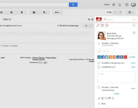 COMMENT CONNAITRE PLUS DE DETAILS SUR VOS CONTACTS GMAIL? | Applications du Net | Scoop.it