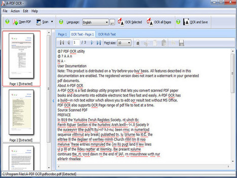 PDF OCR Software - OCR Text in PDF and Image in PDF [A-PDF.com] | PDF OCR Software - OCR Text in PDF and Image in PDF | Scoop.it