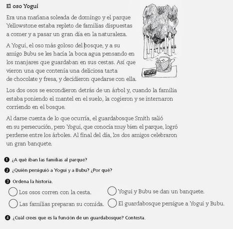 ceipparaguay: Comprensión lectora II- El oso Yogui | LECTURAS E HISTORIAS EN RED | Scoop.it