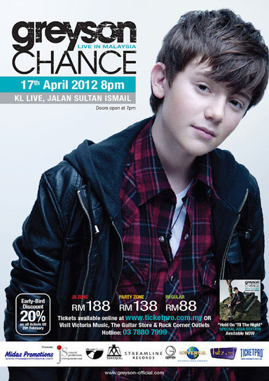 ZeroPlan Malaysia: Greyson Chance Live in Malaysia 2012 | Greyson Chance Fans News | Scoop.it