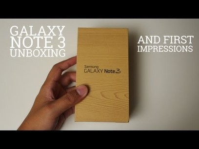 Samsung Galaxy Note 3 unboxing and first impressions | Android Discussions | Scoop.it