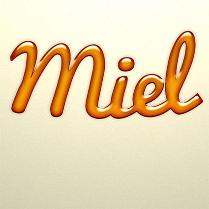 Effet de Miel sur Texte avec Photoshop - Tuto Photoshop les ... | Les nouvelles du web | Scoop.it