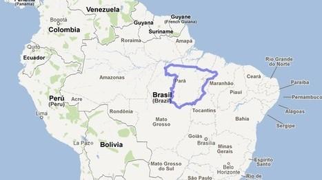 Compara el tamaño de tu país, región o ciudad con otro de cualquier parte del mundo con Mapfrappe | educacion-y-ntic | Scoop.it