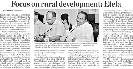 Focus on Rural Development - Etela | Centre For Good Governance | Scoop.it