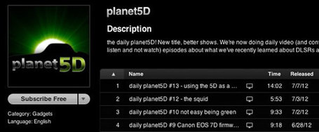 daily planet5D now available in iTunes as audio as well as video episodes #HDSLRscoop | HDSLR | Scoop.it