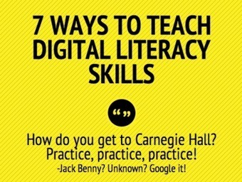 7 ways to teach digital literacy skills - iPads in Education Ning | Library collections for learning | Scoop.it