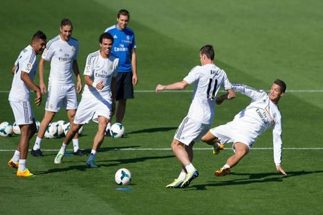 Cristiano Ronaldo shows Gareth Bale who's boss in training as Welshman's debut is confirmed | football | Scoop.it