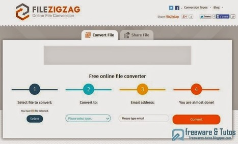 FileZigZag : un nouveau service en ligne de conversion et de partage de fichiers | Time to Learn | Scoop.it