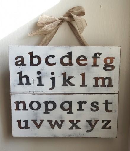 Make Alphabet Pallet Art | Craft Business | Scoop.it