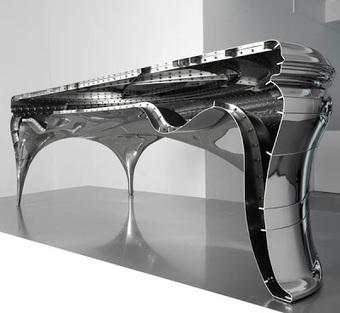 Bureau design en acier « Lectori Salutem » Jeroen Verhoeven decodesign / Décoration   decoración interior   Scoop.it