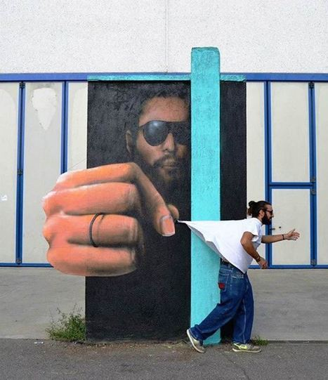 Amazing Italian Street Art Portraits That Interact With the Road Beside Them | In The Glass Wine and Spirits News | Scoop.it