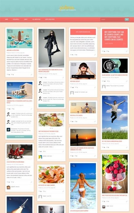 Un Thème Wordpress Premium Pinterest | I like Pinterest | Scoop.it