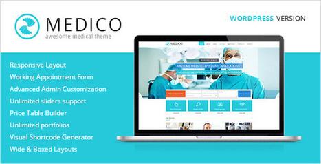 Medico - Medical & Health WordPress Theme Download | website | Scoop.it