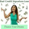 Online Personal Signature Loans with Bad Credit