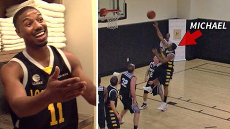 Michael B. Jordan -- MONSTER CROSSOVER ... In Star-Studded ...   Basketball   Scoop.it