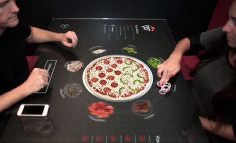 Pizza Hut's concept touch table lets you swipe your way to a perfect pie (video) | Interface, ergonomie.....too geek or not too geek | Scoop.it