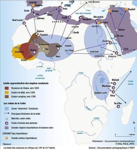 La traite des esclaves en Afrique du VIIIe et XVe siècle - Cartes historiques - Cartes - La Documentation française | Cartes historiques et cartes d'Histoire | Scoop.it