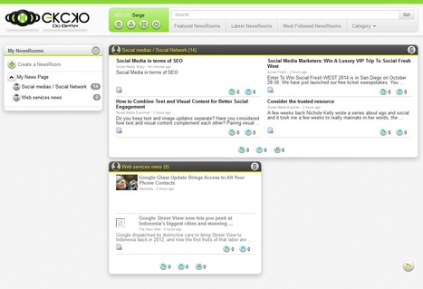 """EKCKO: create private or social """"newsrooms"""" with RSS feeds and filters 