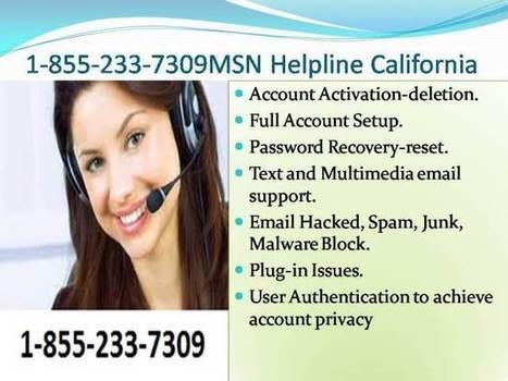1-855-233-7309 MSN Helpline California | Outlook Password Recovery | Scoop.it