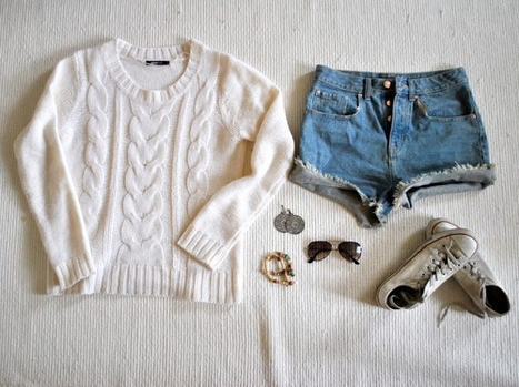 Winter Outfit - Sweater with shorts | Anything, mainly re-scooped things from friends | Scoop.it