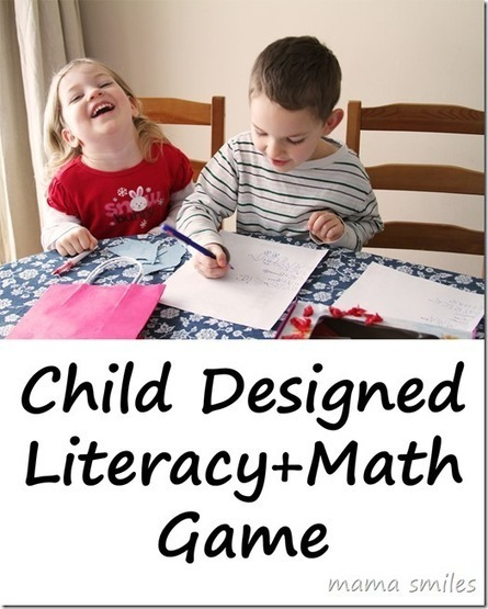 Child Designed Literacy and Math Game - Mama Smiles - Joyful Parenting | Educational Fun for Kids | Scoop.it