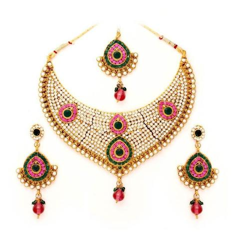 Vendee Fashions  Awesome Bridal Necklace (7080)   Online Shopping in India   Scoop.it