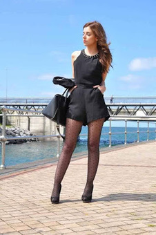 Rompers with Polka Dot Tights - Fashion Hosiery 101 | fashion hosiery | Scoop.it