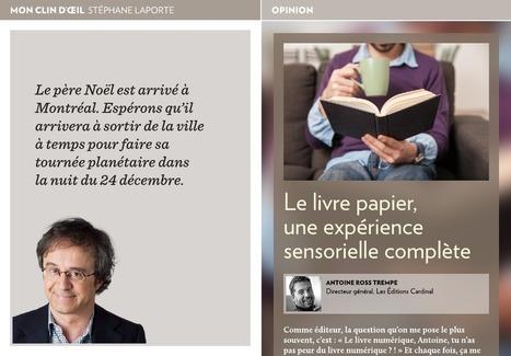 Le livre papier, une expérience sensorielle... - La Presse+ | Bibliorunner, un tech. doc. à l'affût! | Scoop.it