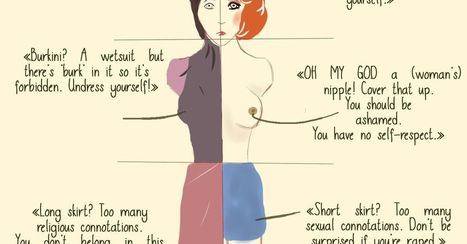 Covered, naked, or in between: artist shows how women are scorned regardless of what they wear | feminish | Scoop.it