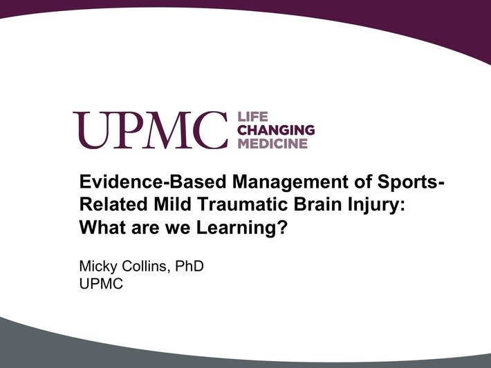 UPMC Physician Resources: Evidence-Based Management of Sports-Related Mild Traumatic Brain Injury: What are we Learning? | Concussion Identification and Management | Scoop.it