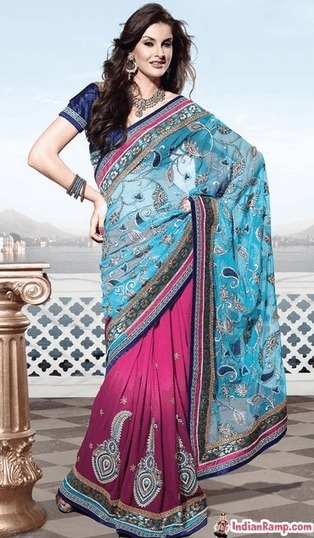 Stylish Connection of Fashion with Glamorous Netted Sarees for Women | Indian Fashion Updates | Scoop.it