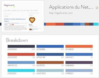 Trouver les couleurs utilisées par un site | Applications du Net | Scoop.it