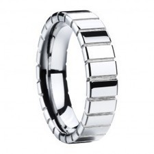 Glat Grooved Tungsten Ring | I Love Tungsten Wedding Bands | Scoop.it
