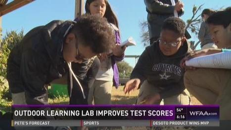 Outdoor learning lab at Dallas, TX school boosts test scores | School Gardening Resources | Scoop.it