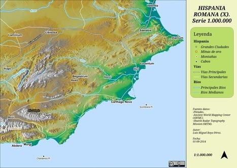 Galería Mapas Hispania Romana. Serie 1.000.000 | Cartografía | Scoop.it