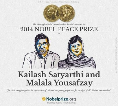 Nobel Peace Prize Awarded to Defenders of Children's Rights | Human Rights and World Peace | Scoop.it