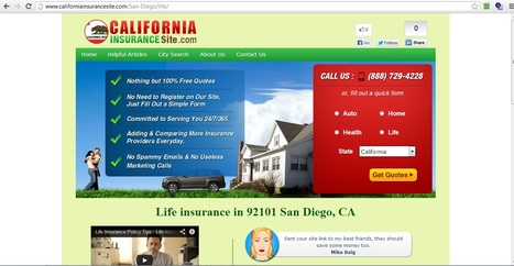 Life insurance and Life insurance online - 92101 San Diego, California   life insurance los angeles   Scoop.it